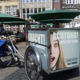 UNICARDS ersetzt PKW durch Lastenräder