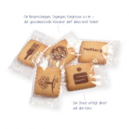 Logo-Kekse | Ihre Werbebotschaft in aller munde!